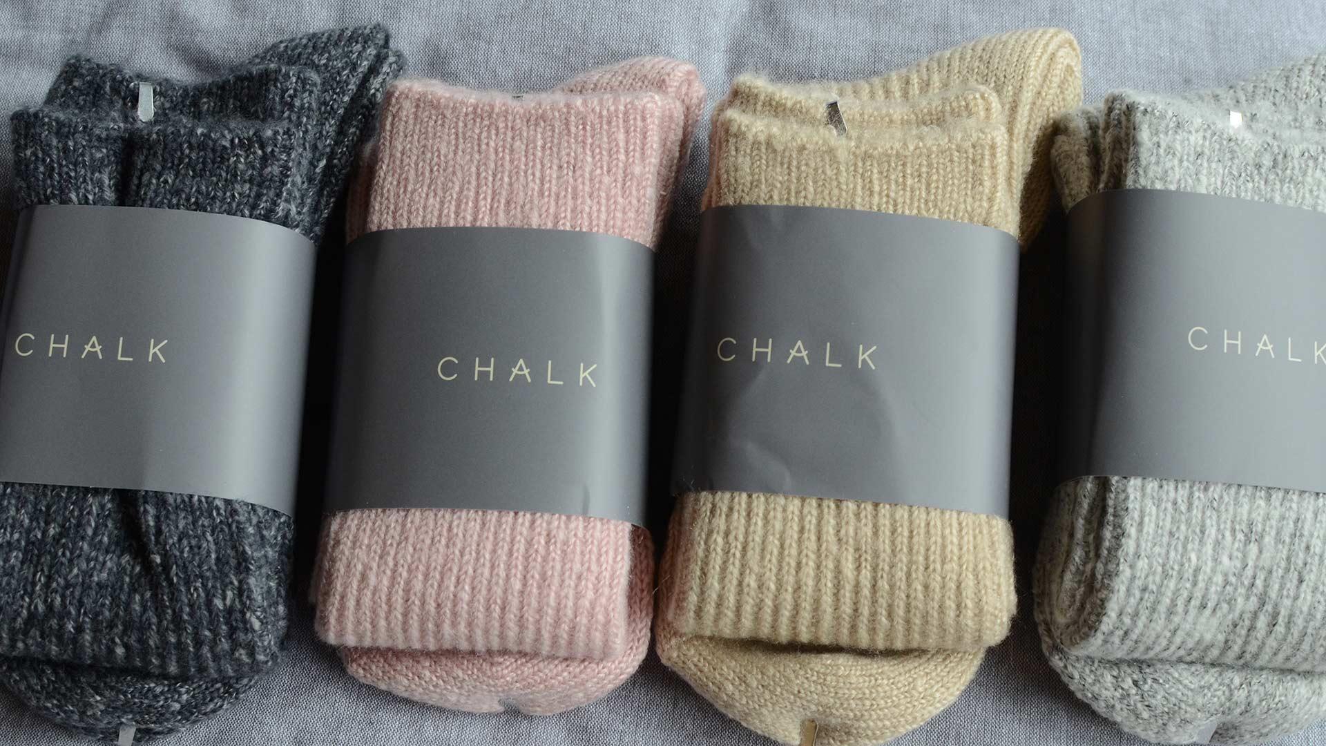chalk soft and cosy socks