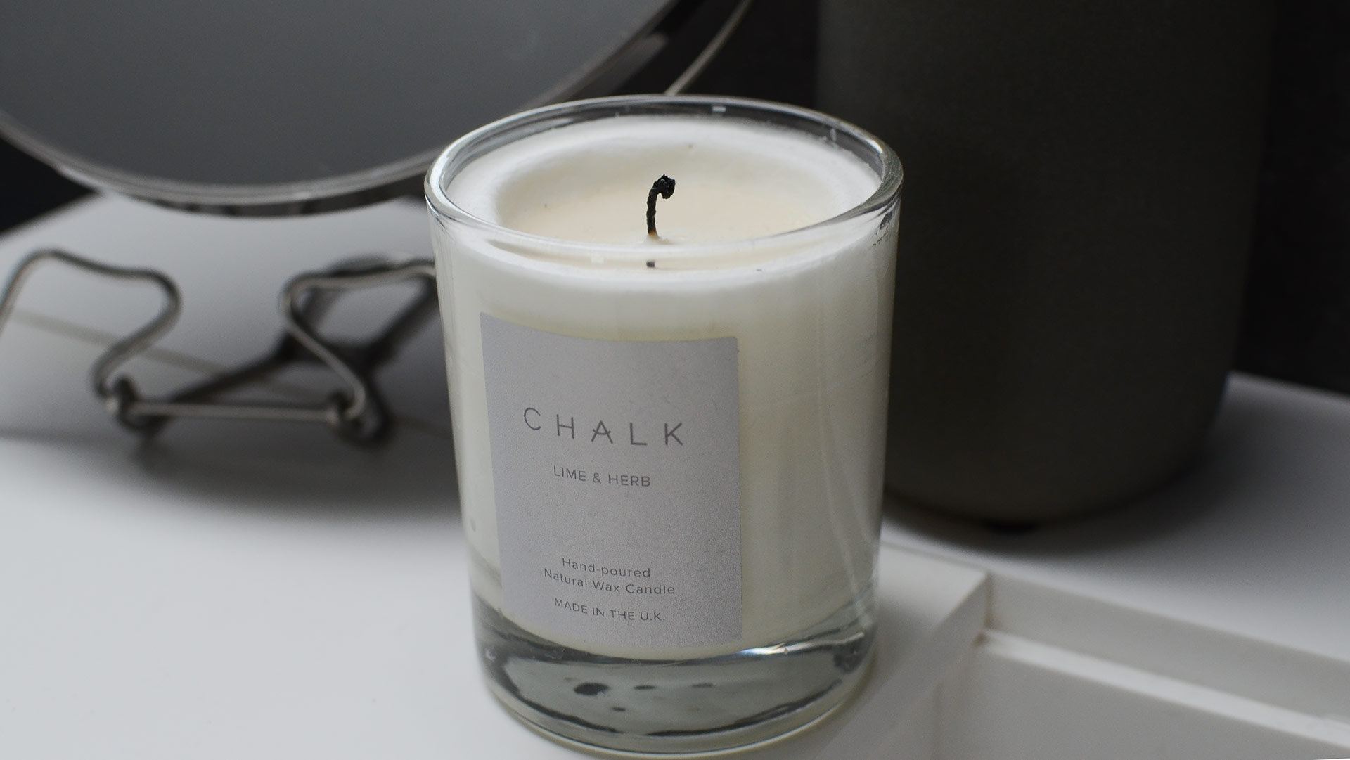 Chalk Scented Candles Luxury Room Scents Natural Bed