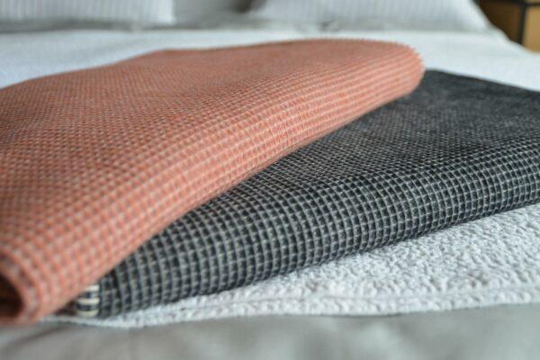modern textured blankets