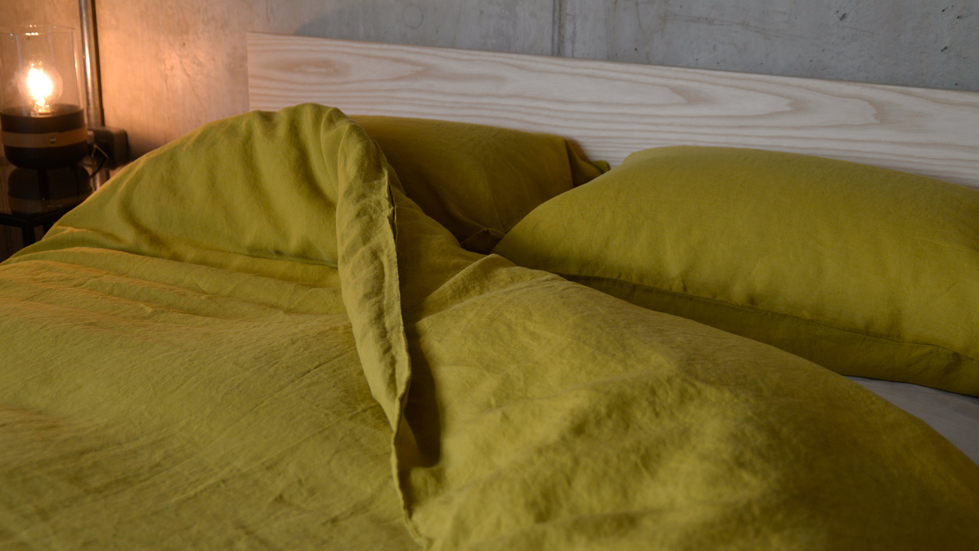 Chartreuse Pure Linen Bedding Natural Bed Company