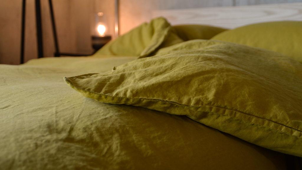 chartreuse-linen-bedding