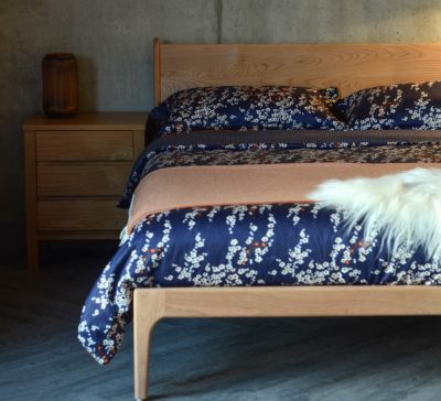 Our Hand made Camden Bed in Cherry wood