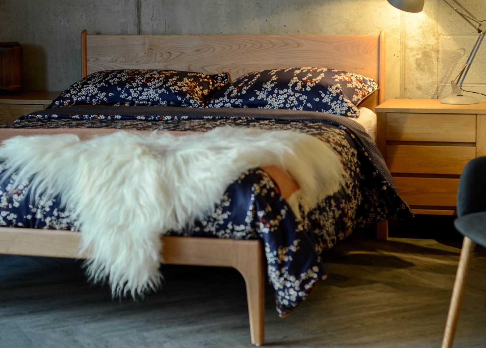 The cherry Camden bed Hand made in Britain