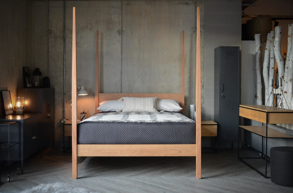 Hand made Hatfield 4 poster bed in solid Cherry