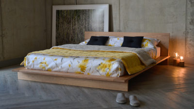 cherry wood platform bed - Orego design