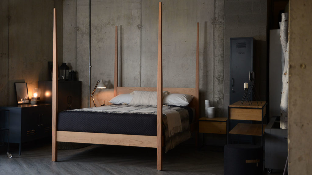 Solid cherry Hatfield 4 poster wooden bed