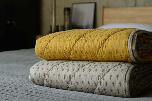 patterned quilted throws