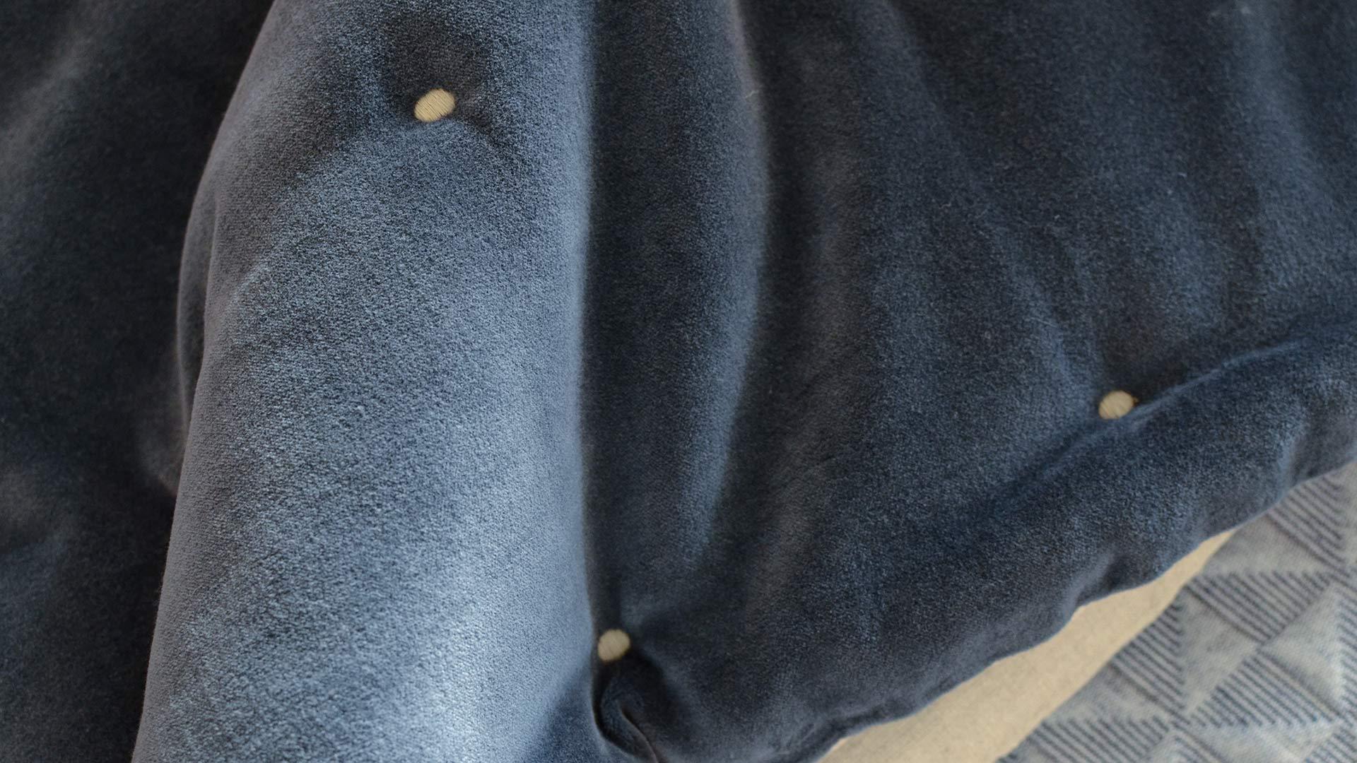ink blue velvet quilt