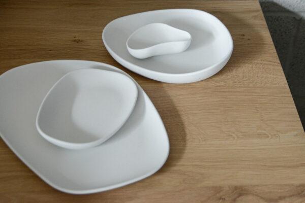 ivory tableware in matte porcelain