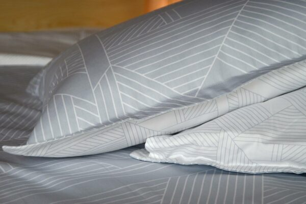 silver grey duvet set