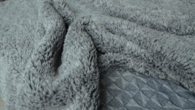 grey fleecy throw
