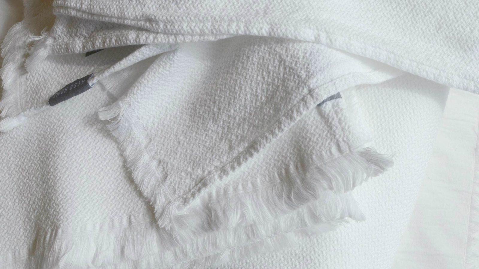 Cotton Pique Fringed Towels