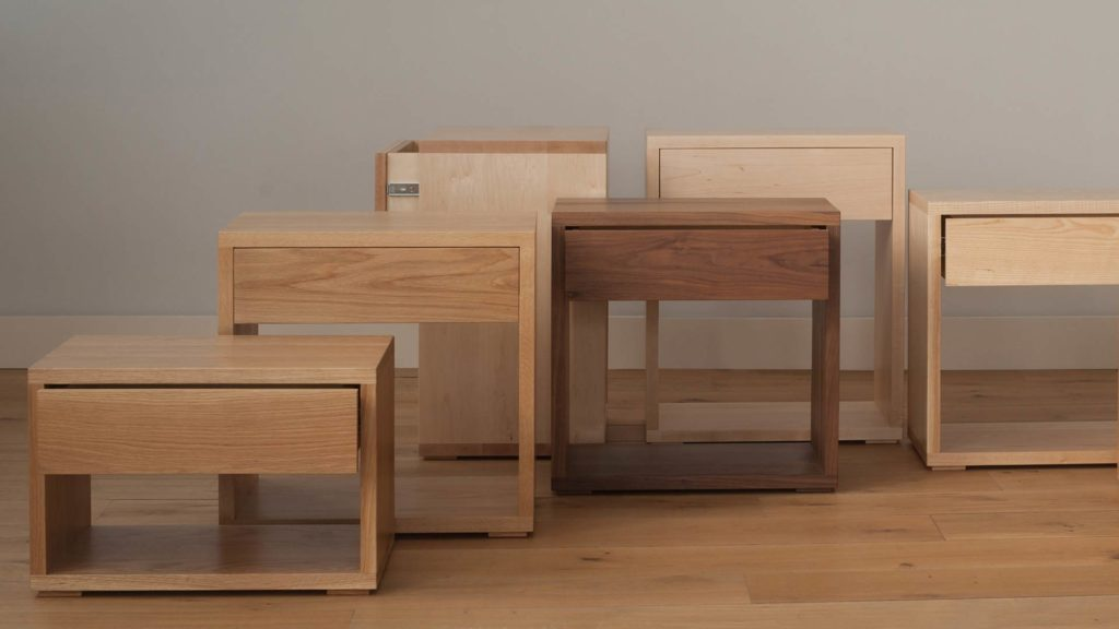 NBC made Cube Tables collection available in a choice of woods and a range of sizes.