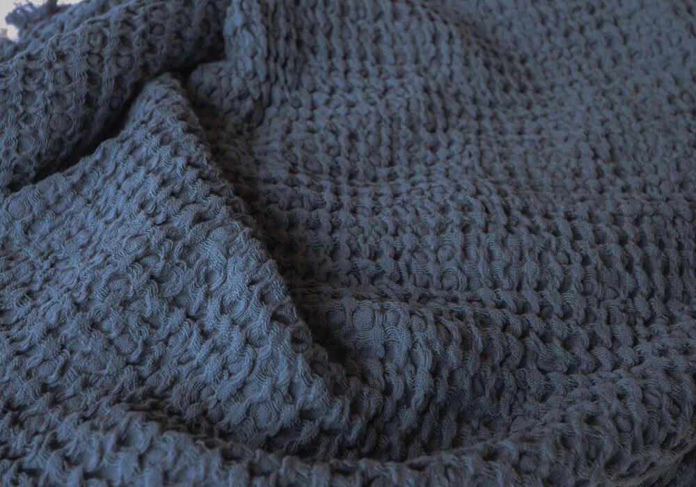 waffle-throw-dark-blue-grey
