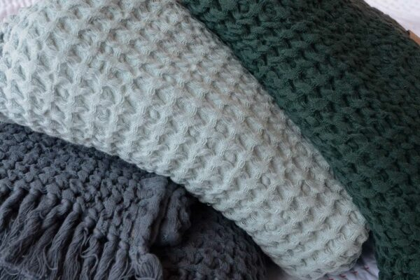 Cotton Waffle Throws in 3 colour Options