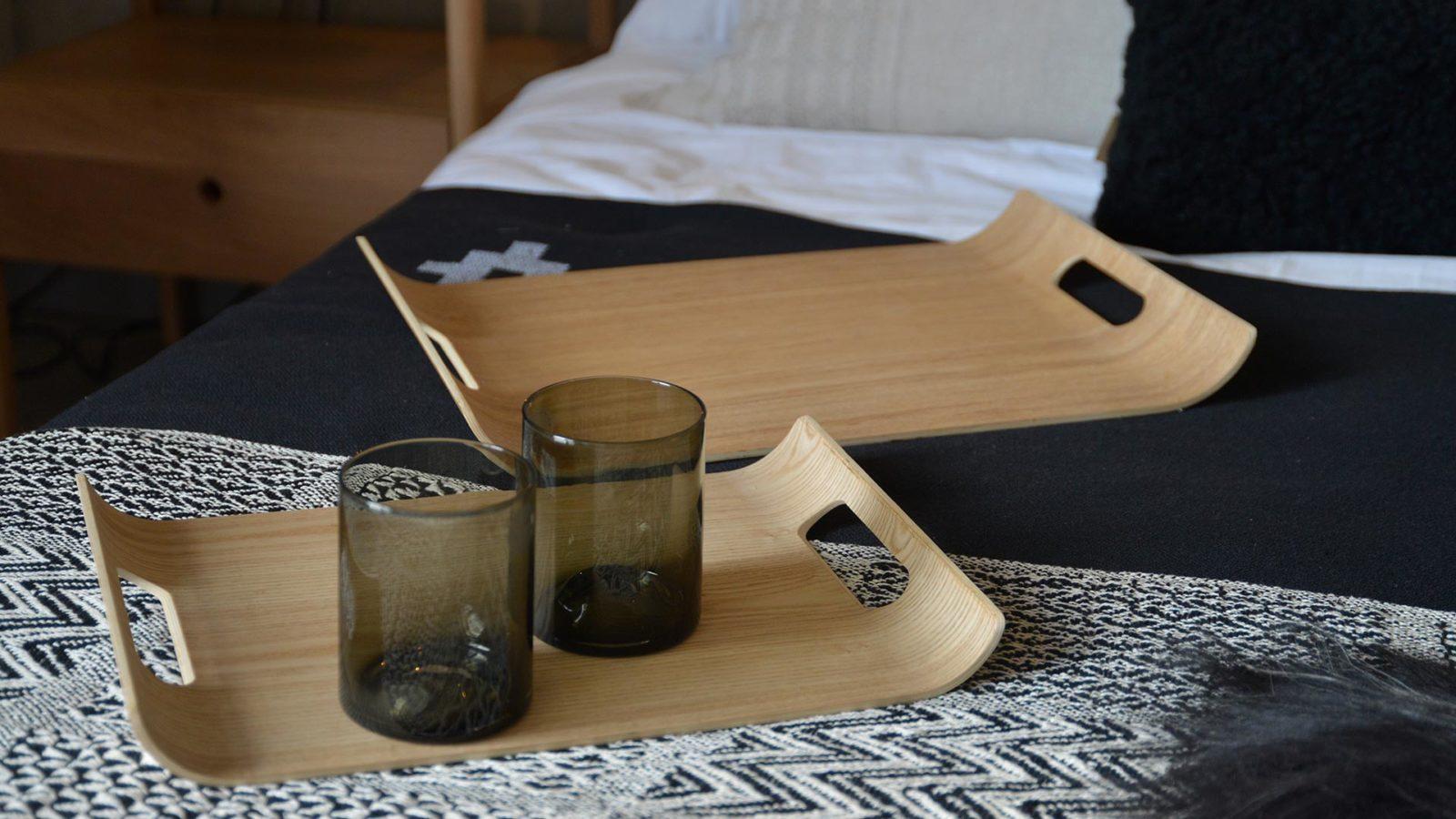 curve hardwood ply trays