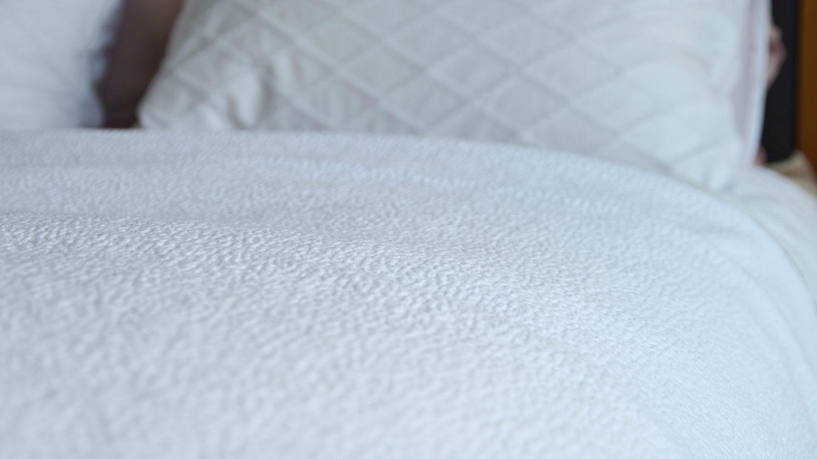 Dapple White Bedspread