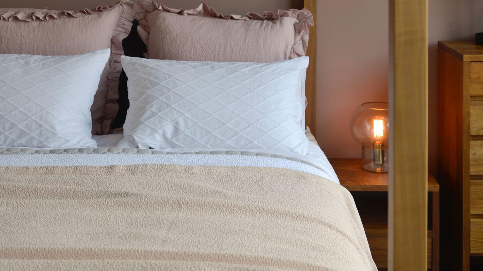 Dapple Bedspread Warm Shell - Cotton