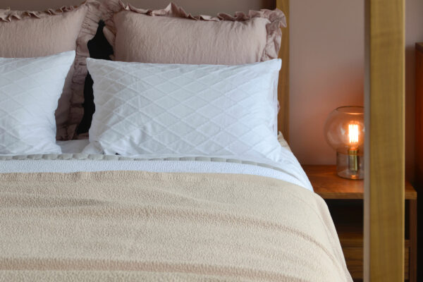 Dapple Bedspread Warm Shell - Cotton