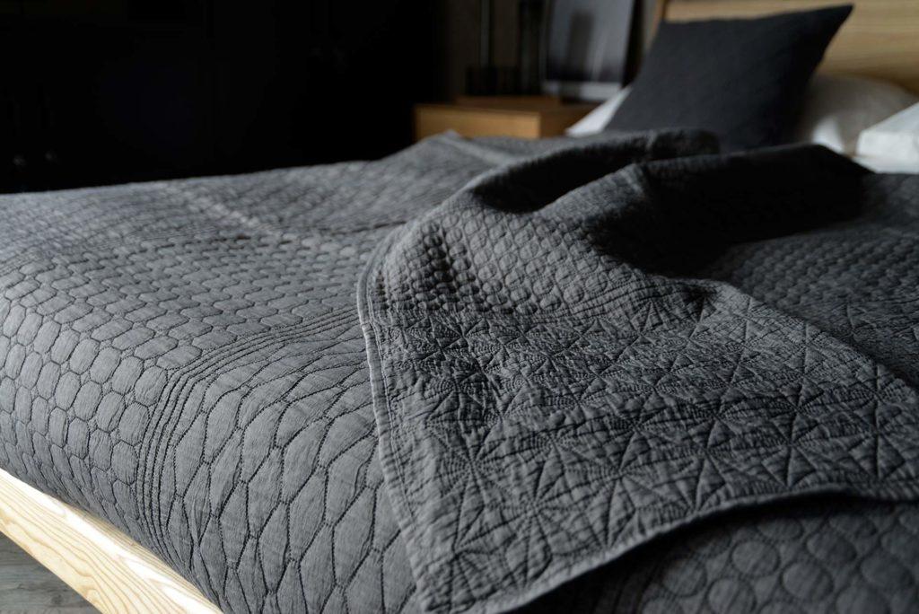 modern patterned quilt