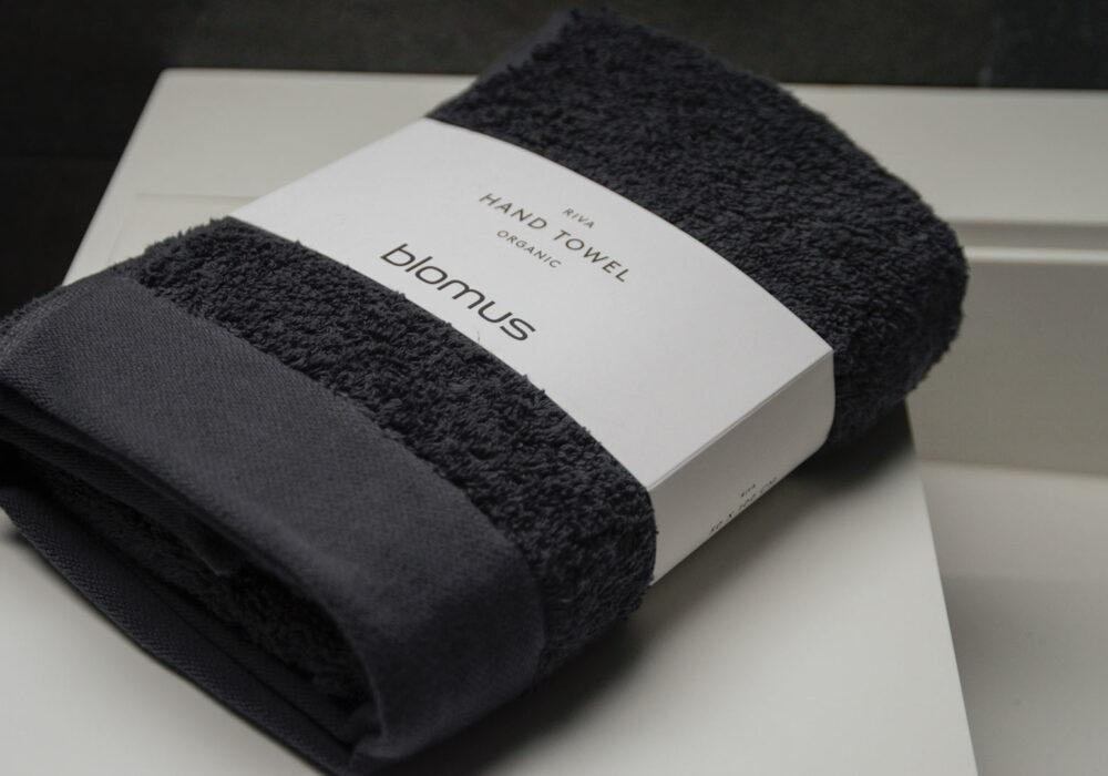 luxury dark grey organic cotton towel