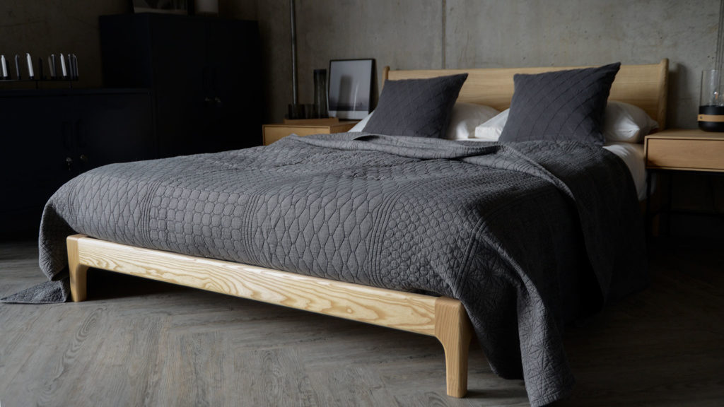 contemporary grey bedding