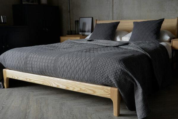 contemporary grey bedding