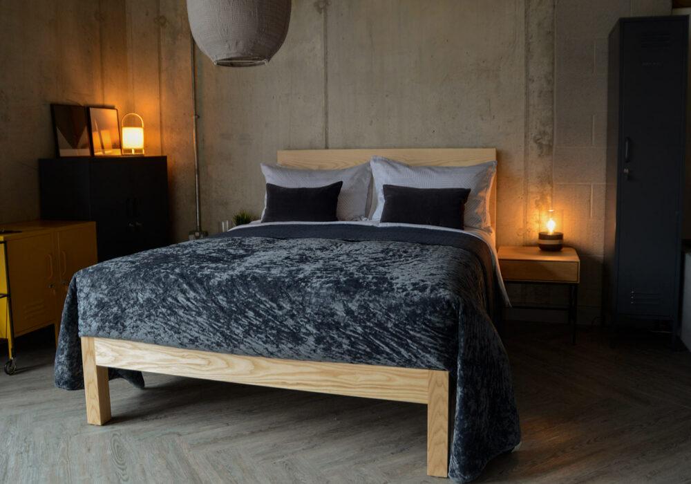luxury crushed velvet bedspread in slate grey