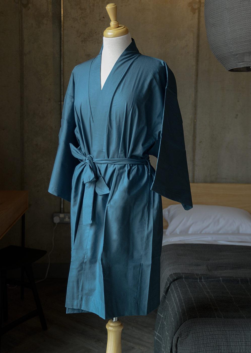 dark blue robe