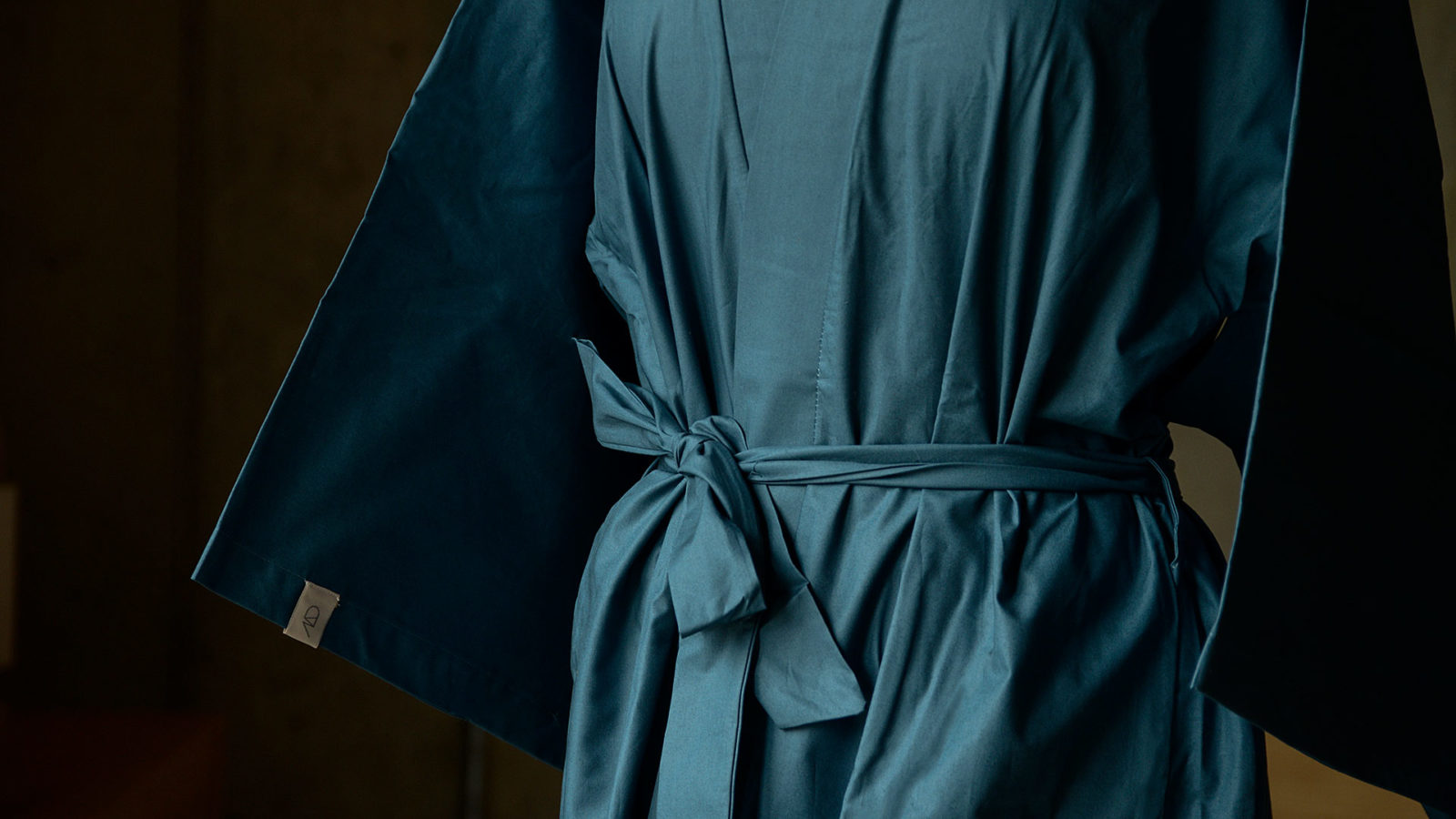 dark teal dressing gown