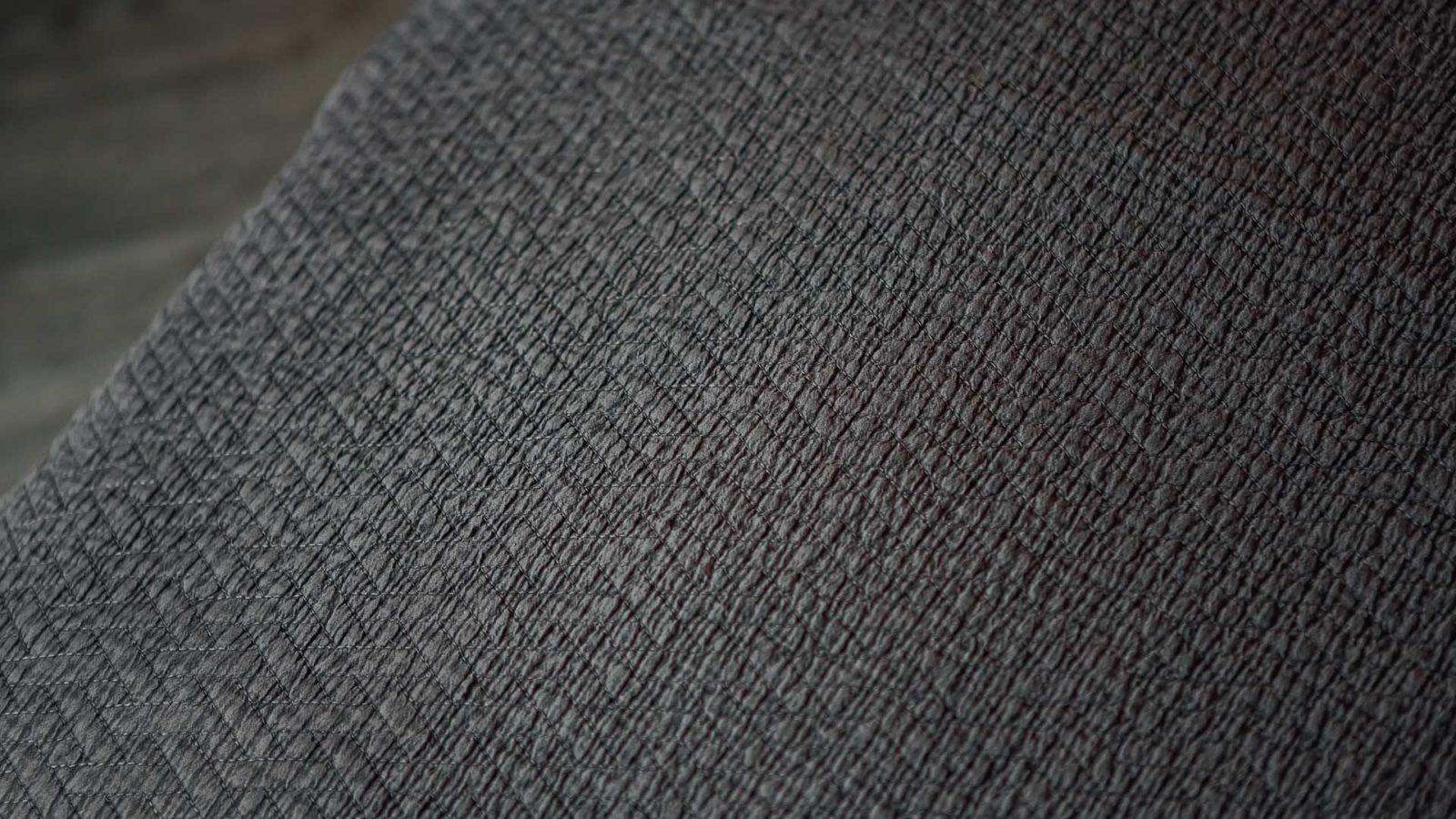 Textured bedspreads - dark grey