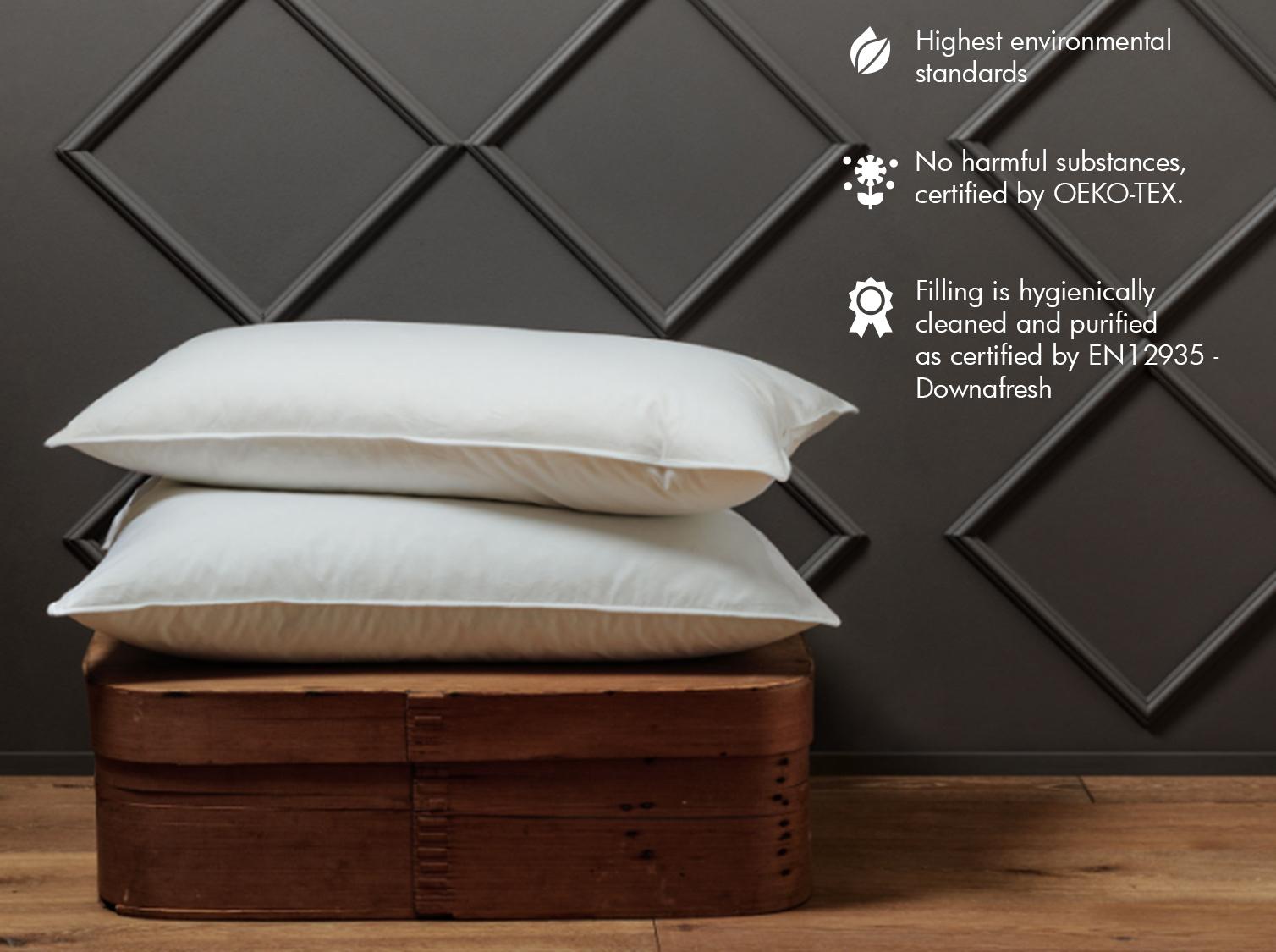 luxury OEKO-TEX certified Canadian Goose Down pillows