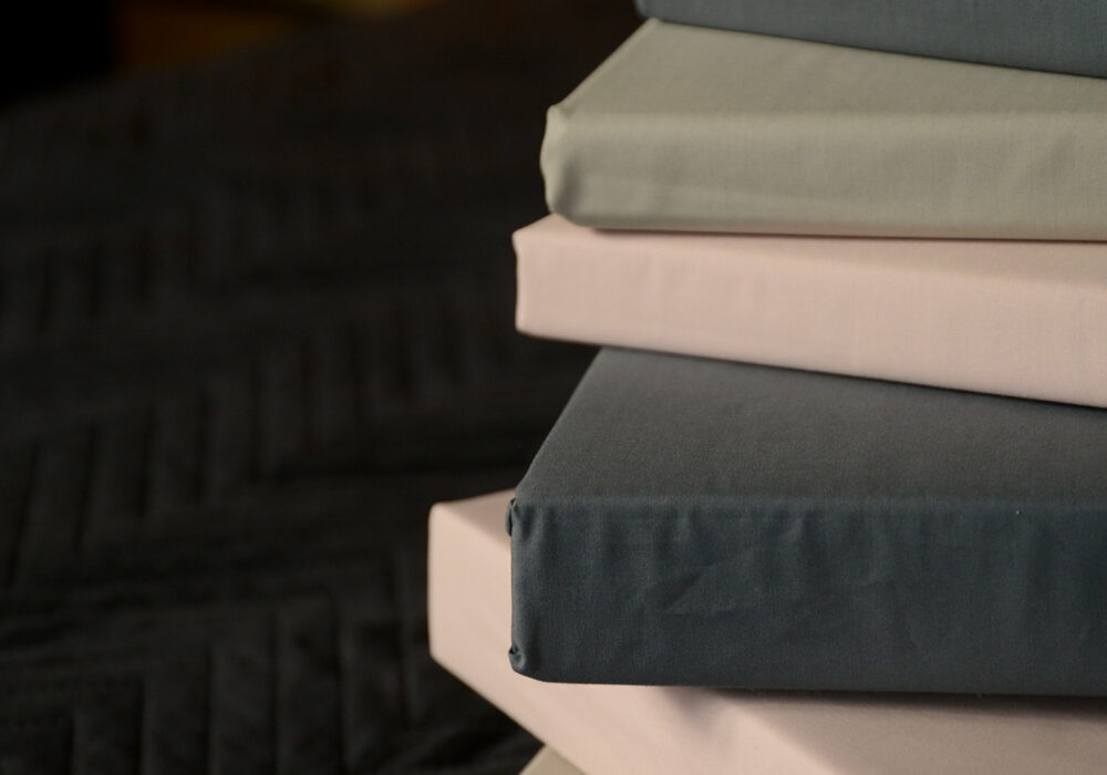 easy care sheets and pillowcases in 3 colour ways