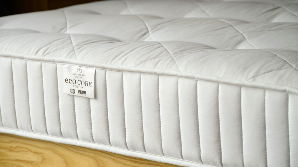 Eco friendly biodegradable and natural mattress with a cotton cover