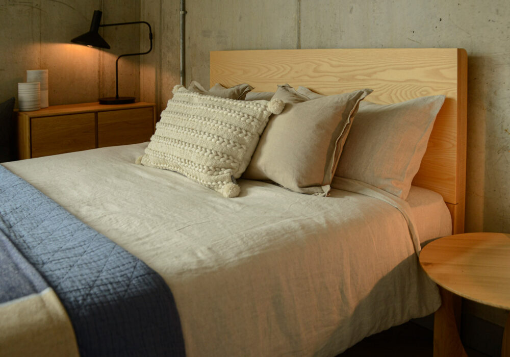 beige marl colour luxury 100% linen bedding