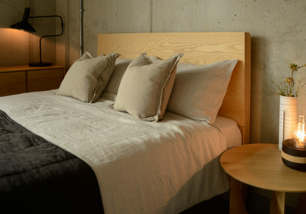 beige marl colour luxury 100% linen bedding made from European flax