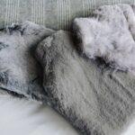 luxury softest faux-fur hotwater bottles - alaska-fox, silver-fox, and grey