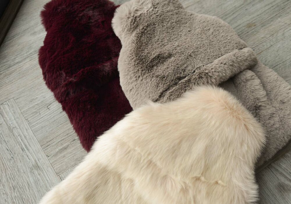 luxury softest faux fur hot water bottles in a choice of colour