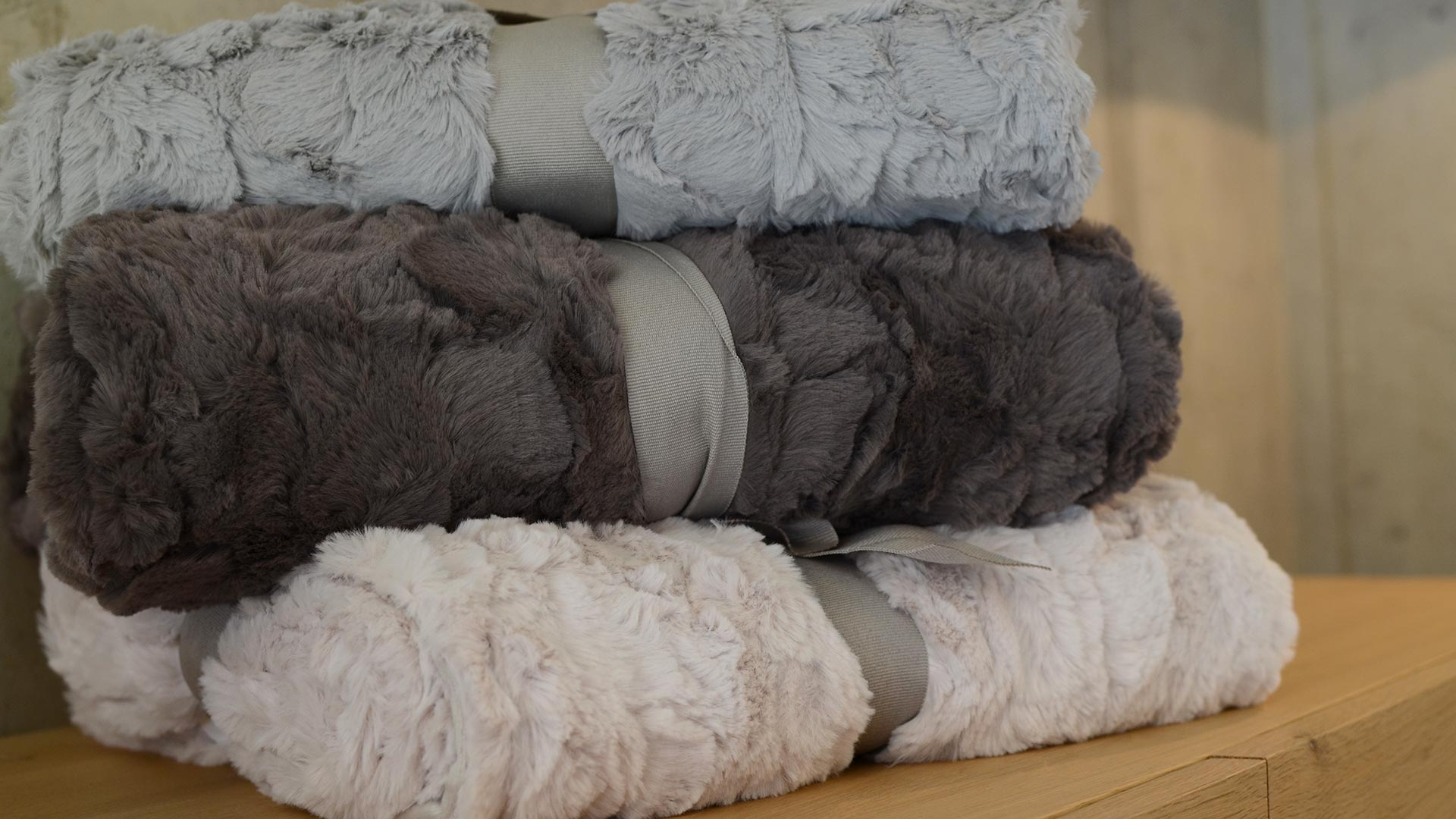 Cosy Faux Fur Throws - 3 Colours