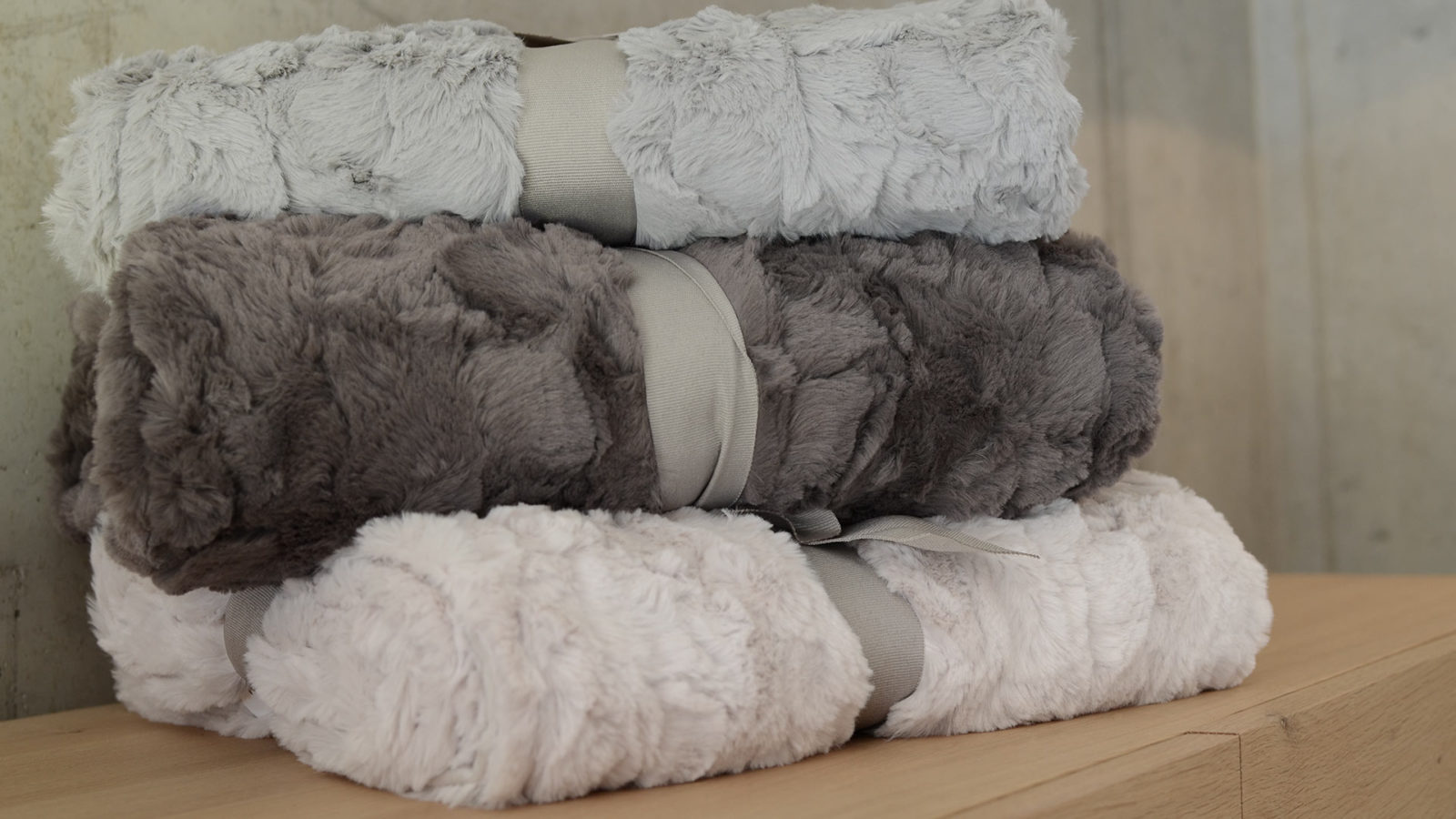 Faux Fur Throws in 3 colours