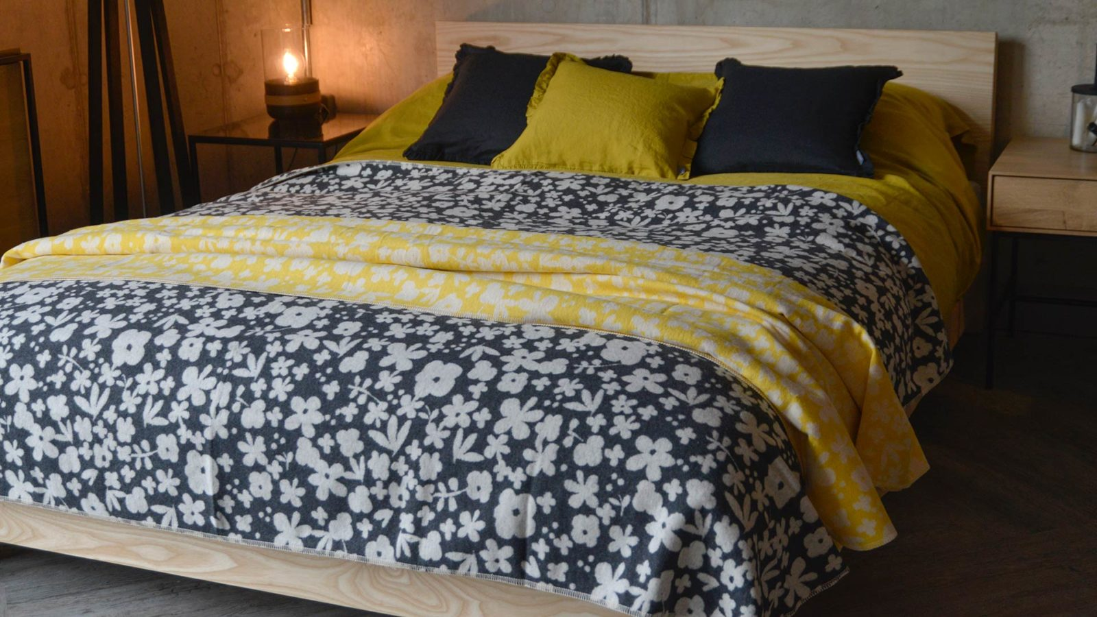 floral-throws-in-charcoal-or-yellow-and-ivory