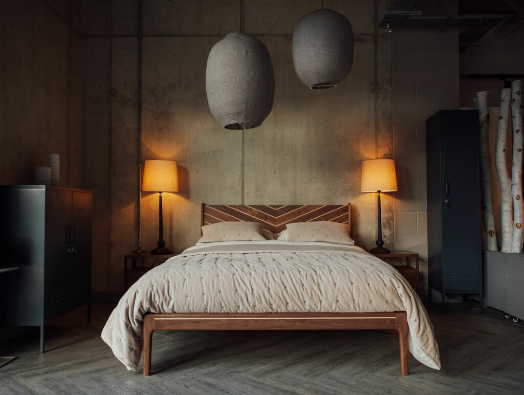 Special edition Hoxton bed in Industrial bedroom setting