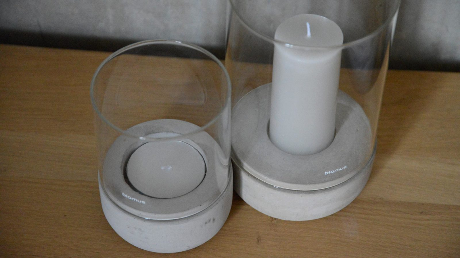 concrete based lantern candle holders