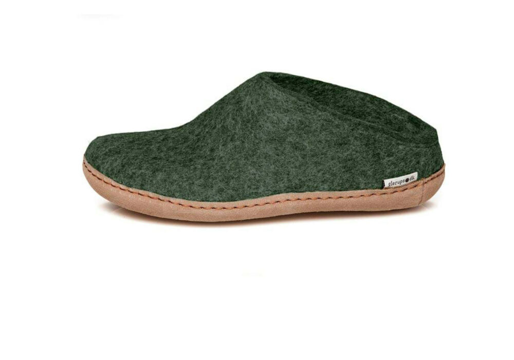 dark green slippers