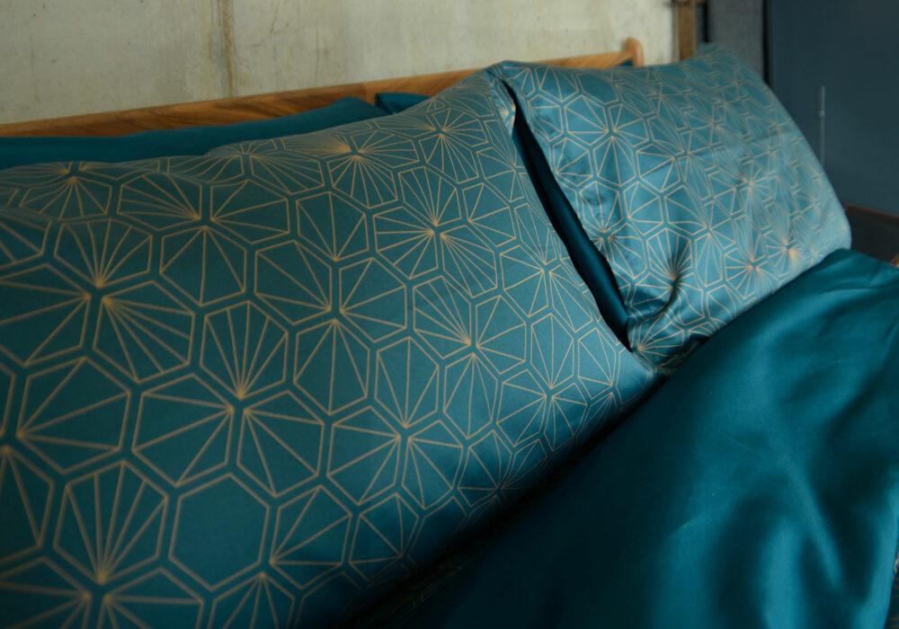 Hexagon - Luxury Dark Teal Bedding