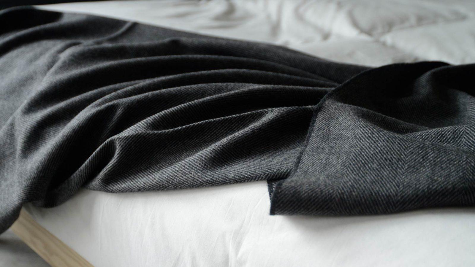charcoal merino blanket