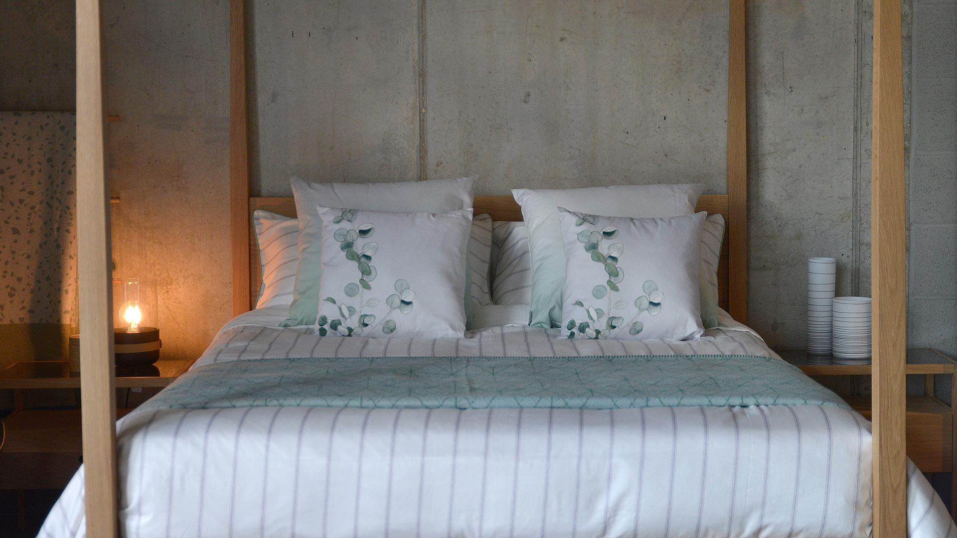 grey-stripe-duvet-set-with-green-and-grey-cushions
