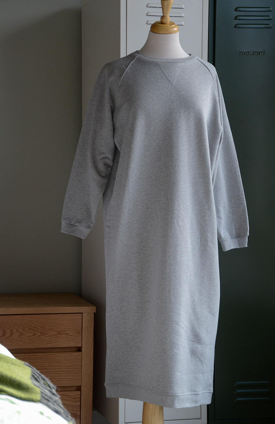 maxi sweatshirt dress
