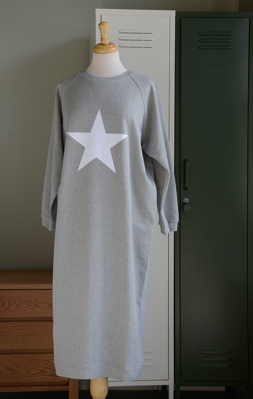 grey dress with star