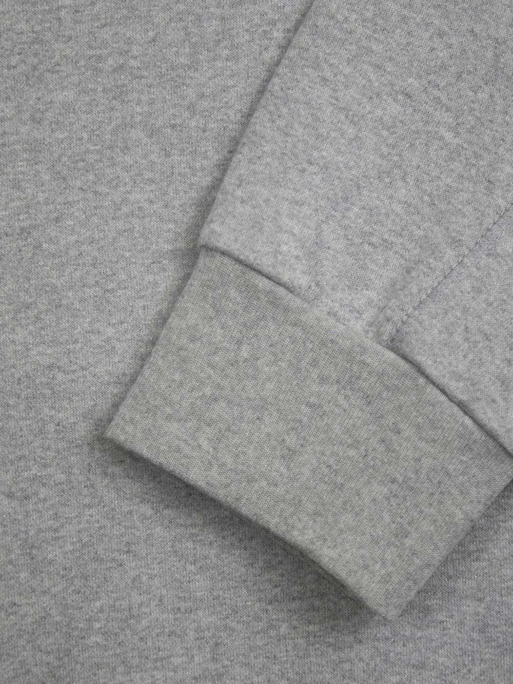 grey sweatshirt dress detail